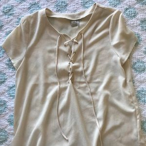 Blouse with tie detail